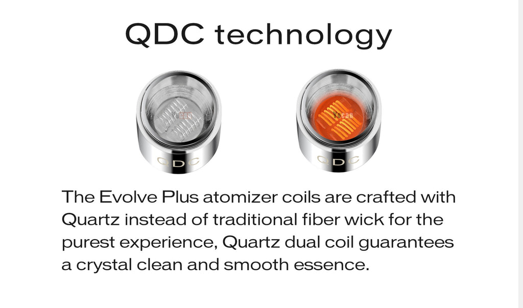 Yocan Evolve Plus Wax Vaperizer QDC TEchnology