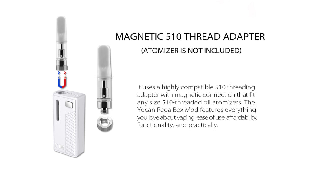 Yocan Rega VV Box Mod Magnetic 510 Thread Adapter