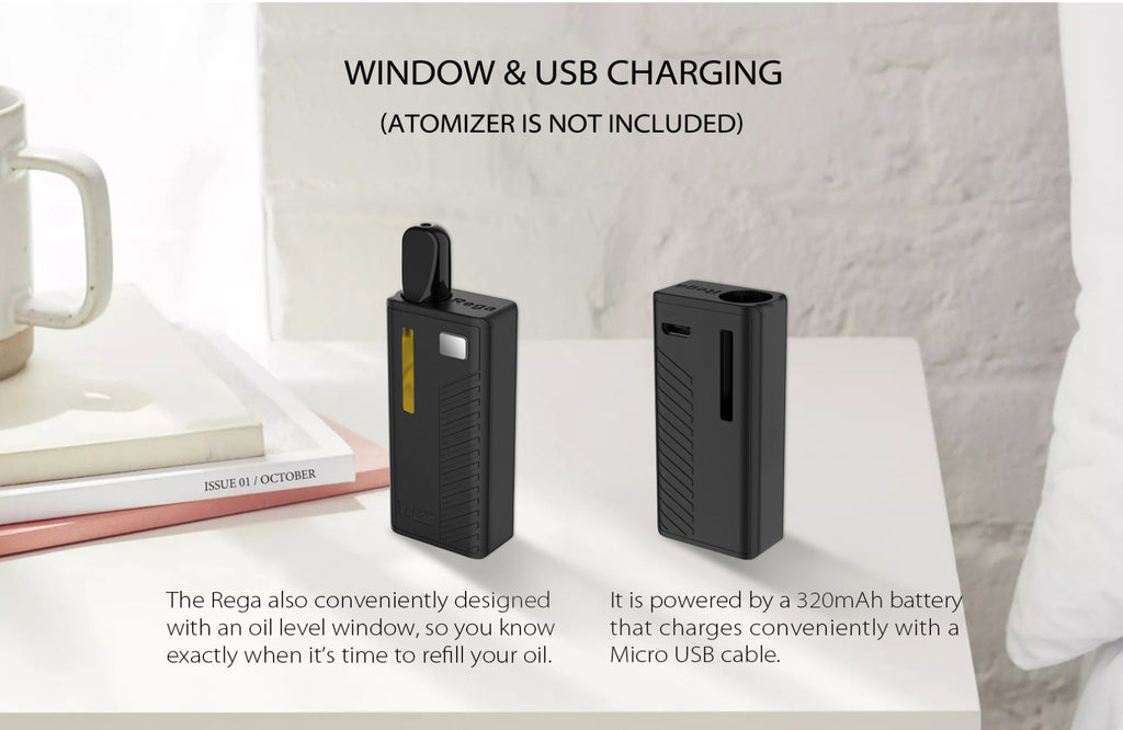 Yocan Rega VV Box Mod Window & USB Charging