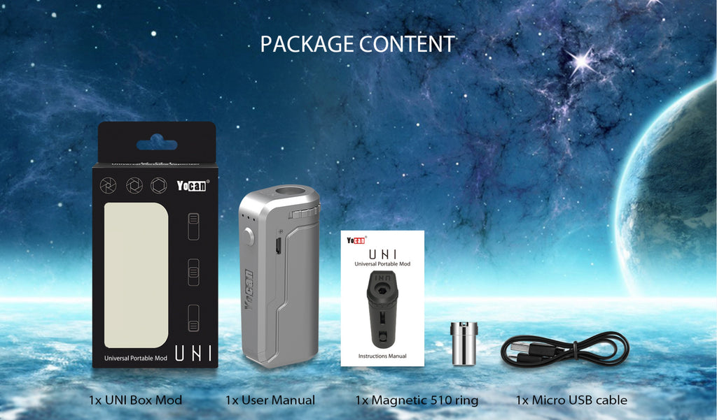Yocan UNI VV Box Mod Package Content