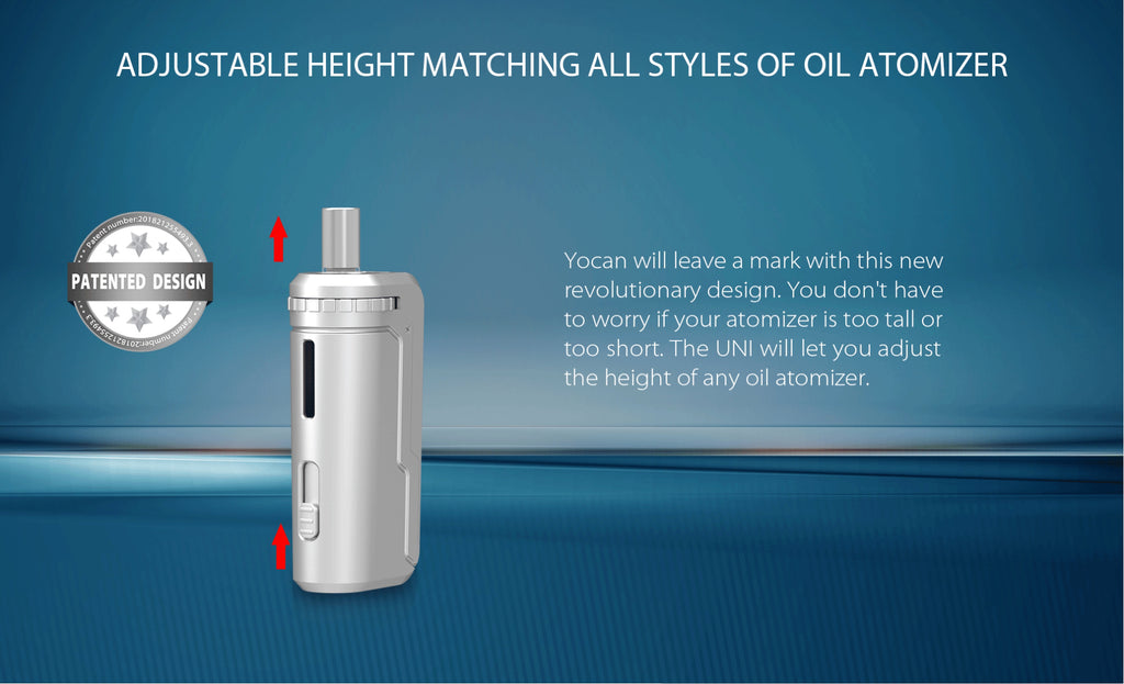 Yocan UNI VV Box Mod - Adjustable Height Matching All Styles Of Oil Atomizer
