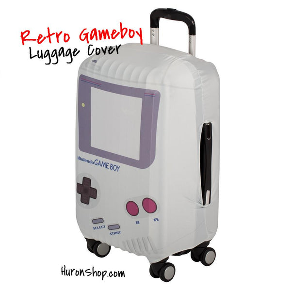 Gameboy Luggage Cover || Nintendo Travel Accessories || Gift for 90s Gamers and Retro Fans - huronshop1
