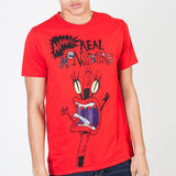 Aaahh!!! Real Monsters Red T-Shirt || 90s Retro Mens or Womens Cartoon Tee || - huronshop1