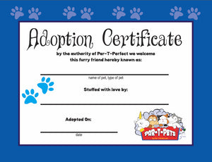 Downloadable Free Adoption Certificates