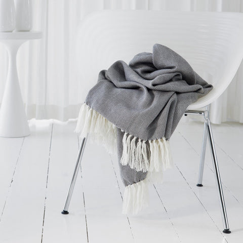 Opening Night Collection Mohair and Wool Throw