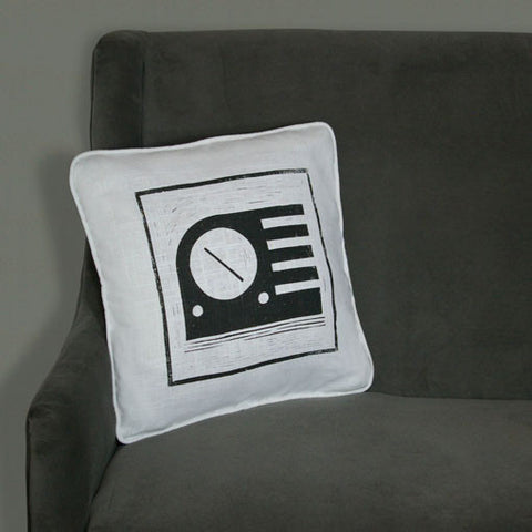 Radio Pillow on White