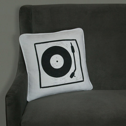 Turntable Pillow on White