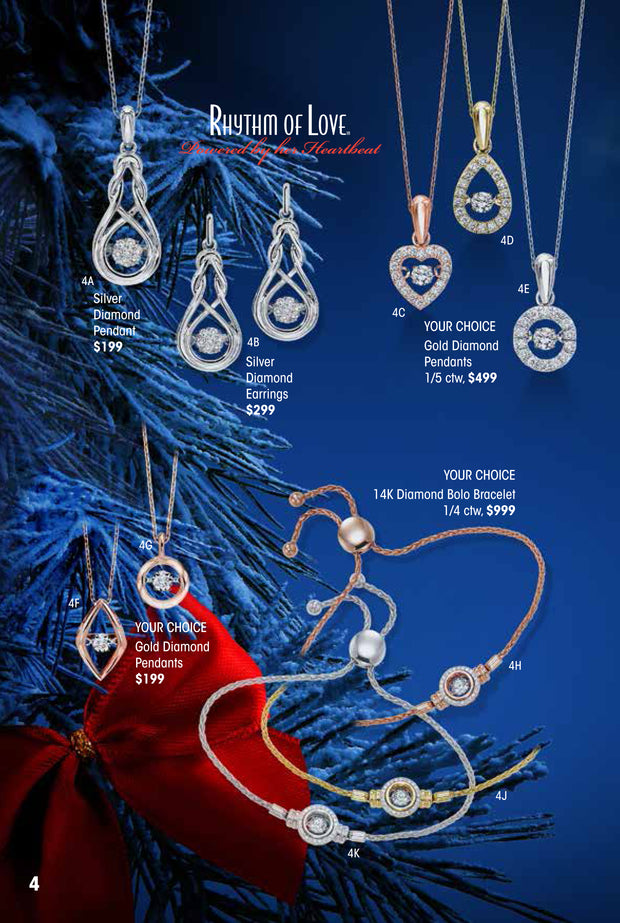 Rhythm of Love White Gold Diamond Pendant Holiday Catalog 4E