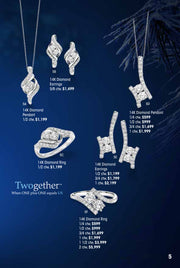 Twogether 14k Diamond Pendant 1/4 ctw Holiday Catalog 5D