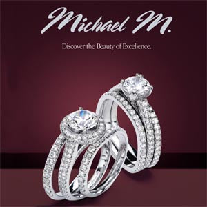 Michael M. R320LB Wedding Band Platinum