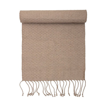 Woven Jute Runner, Tan with Fringe
