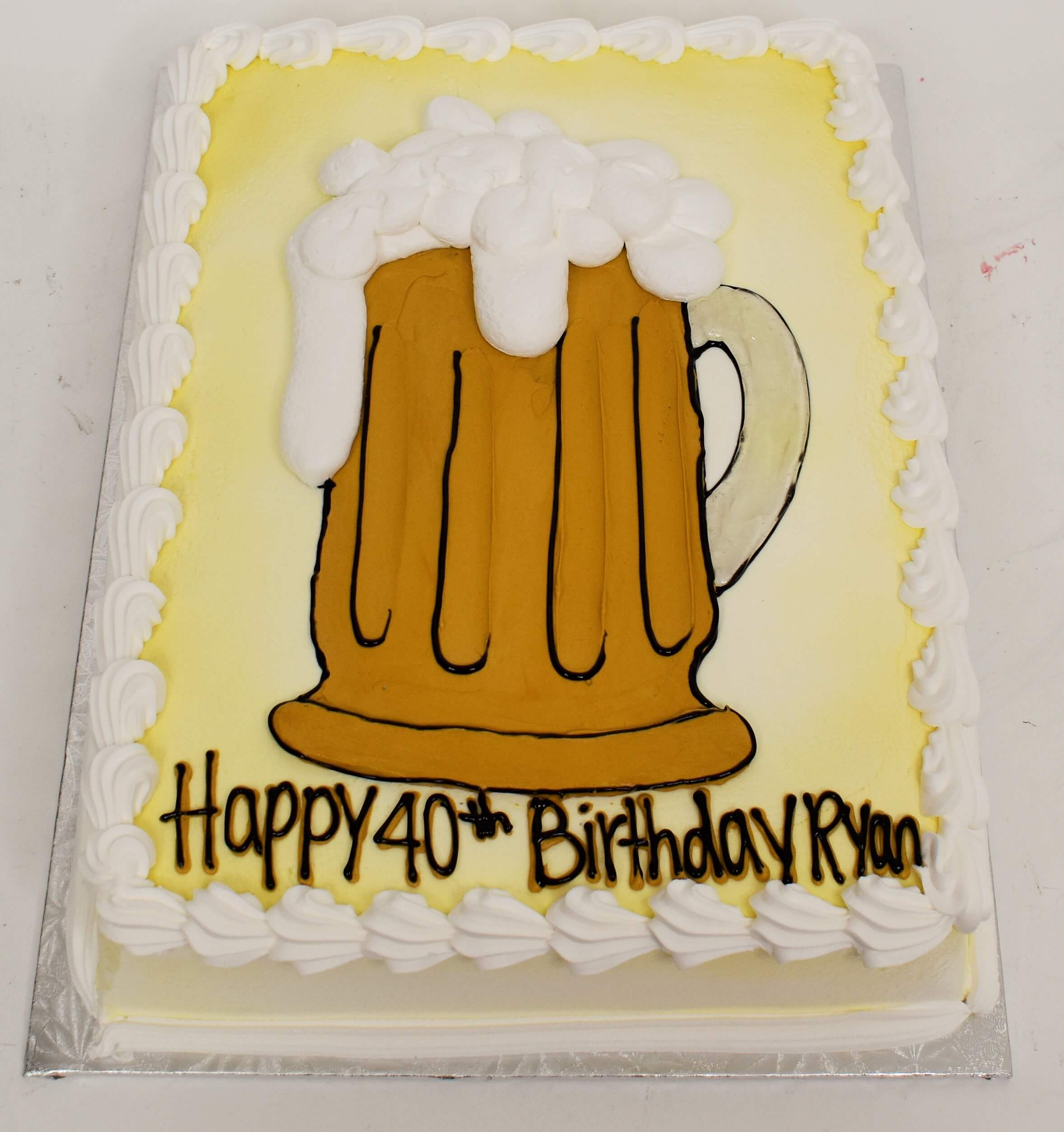 McArthur's Bakery Custom Cake With Beer Mug