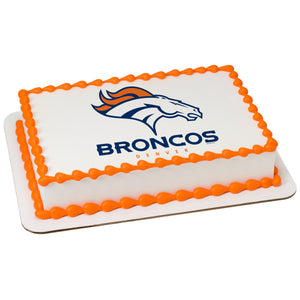 McArthur's Bakery Custom Cake With Denver Broncos Logo
