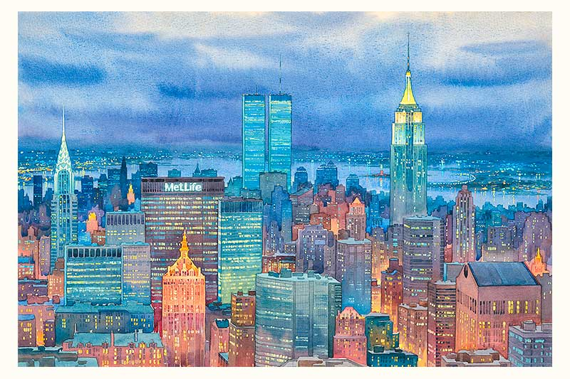 New York Midtown by Roustam Nour fine art giclée print
