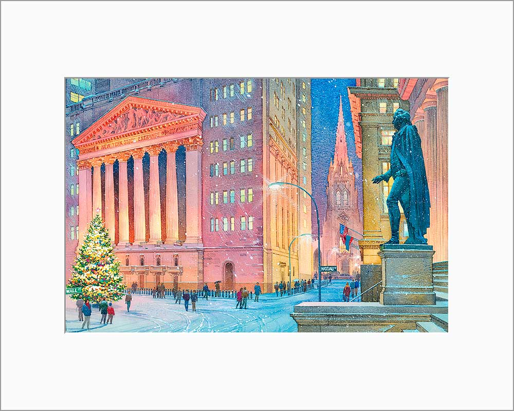 New York Stock Exchange by Roustam Nour matted artwork
