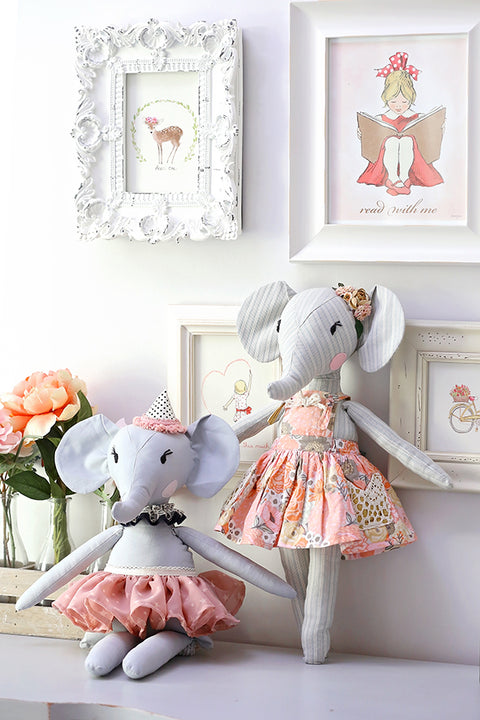 "Elle Elephant 18"" Stuffed Animal Pattern"