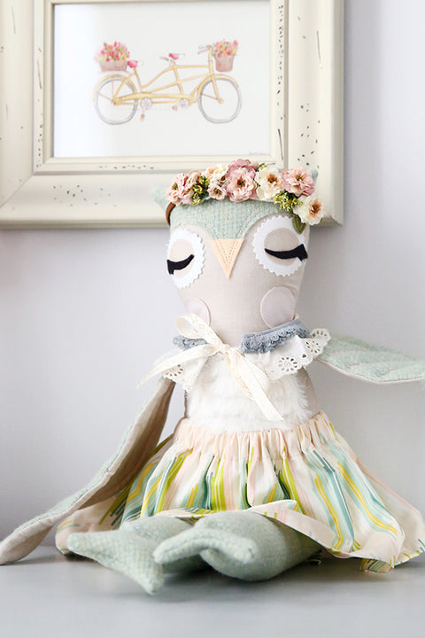 "Olive Owl 18"" Doll Pattern - Violette Field Threads  - 1"