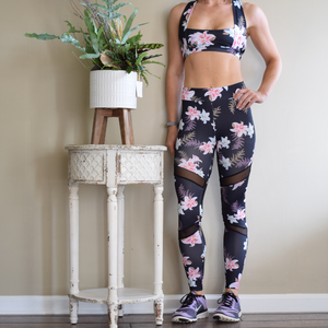 Lily Floral High Waist Legging-Ladies, Lattes, and Lifting