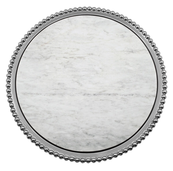PEARLED MARBLE ROUND PLATTER