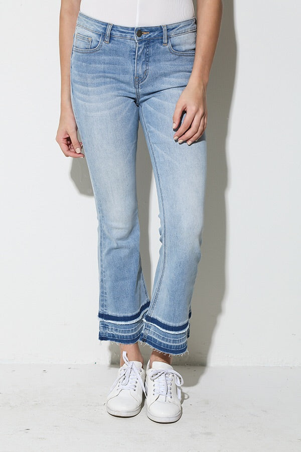 Crop Flare Denim Jean