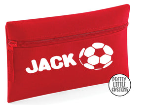 Personalised football pencil case - your name