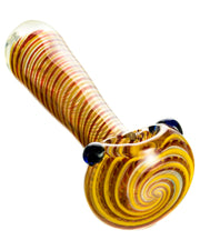 Tight Spiral Spoon Pipe w/ Fumed Glass | Rasta Vapors