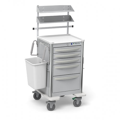 5-Drawer Junior Medium  Suture Cart (JMGKA-33369-LTG)With Optional Accessories - Didage