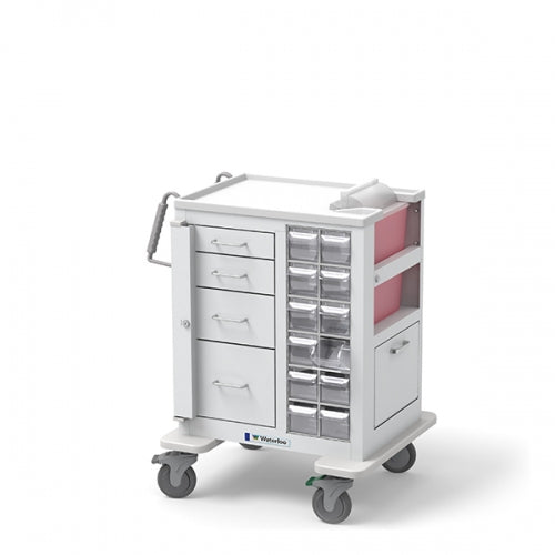 4-Drawer Short Phlebotomy Cart(MSWA-3469-WHT) - Didage