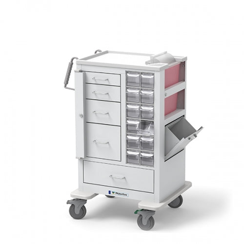 5-Drawer Tall Phlebotomy Cart(MTWA-34696-WHT) - Didage