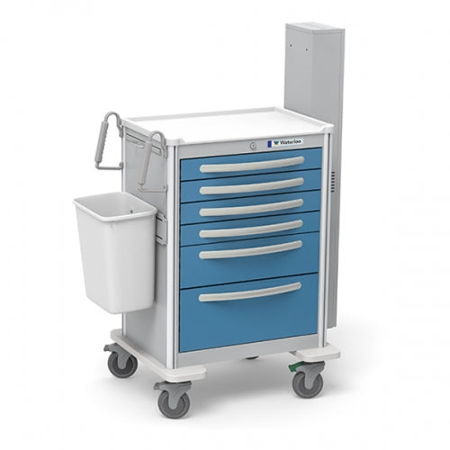 6-Drawer Tall Difficult Airway Cart(UTGKA-333369-LTB)With Optional Accessories - Didage