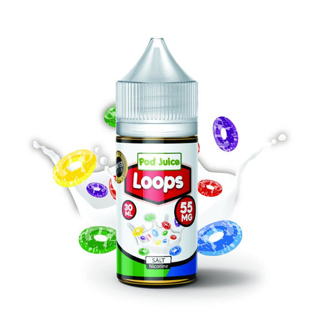 Loops Salt Nicotine By Pod Juice 30ml - All Puffs
