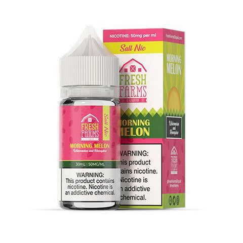 Morning Melon Salt Nicotine By Fresh Farms E-Liquid 30ml - All Puffs