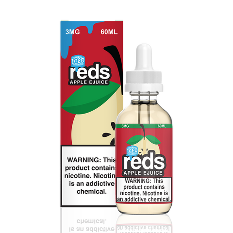 Reds Iced Apple Juice E-Liquid by 7 Daze - All Puffs