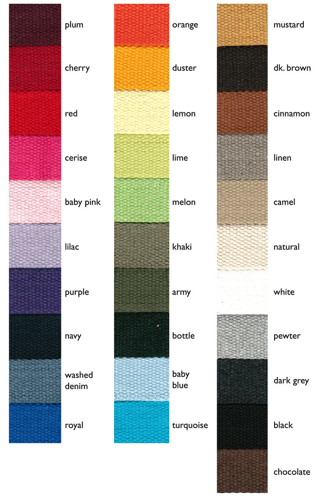 Quality 40mm Cotton Canvas Webbing All 31 Colours