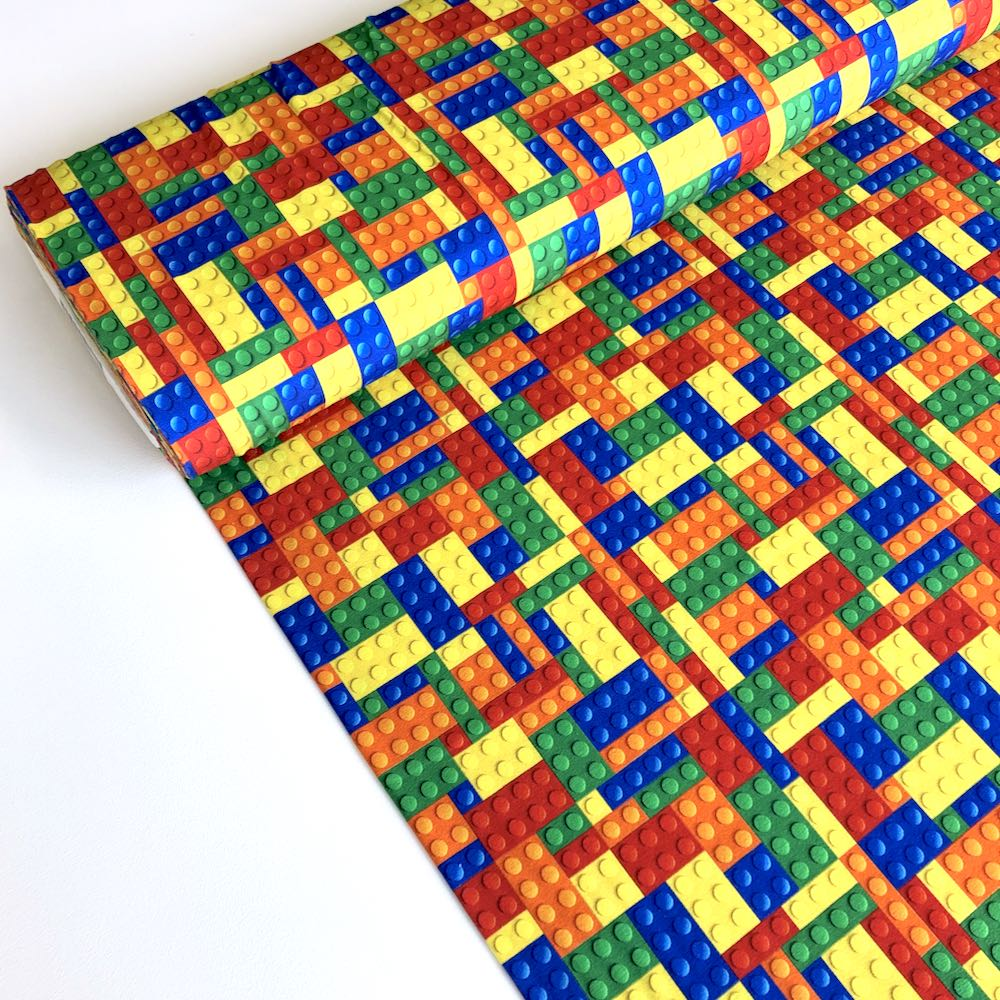 Building Block Multi Jersey Print Fabric