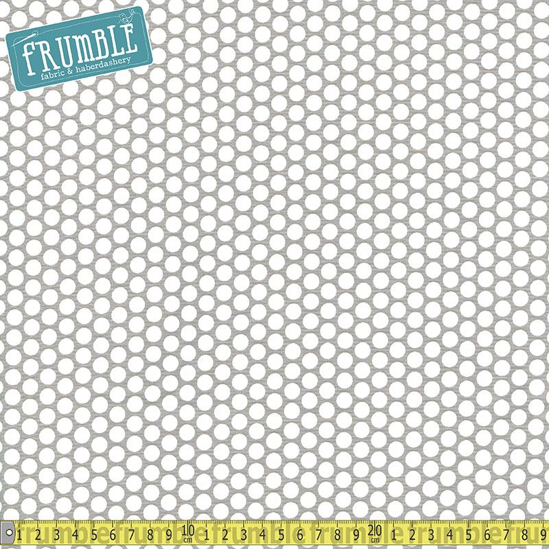 Honeycomb Dot Grey Fabric by Riley Blake
