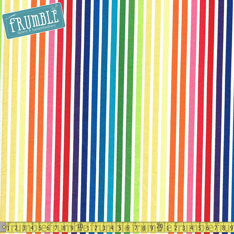 Remix Rainbow Stripes Bright Fabric by Robert Kaufman