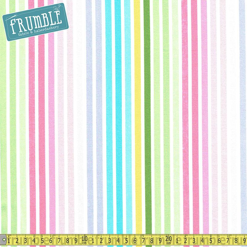 Remix Rainbow Stripe Spring Fabric by Robert Kaufman