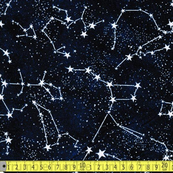 Glow In The Dark Constellations Fabric by Timeless Treasures