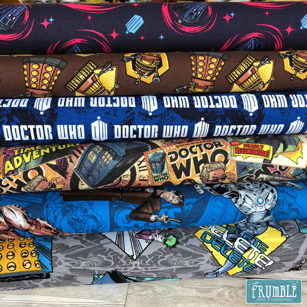 Doctor Who Comic Book Fabric FQ Bundle