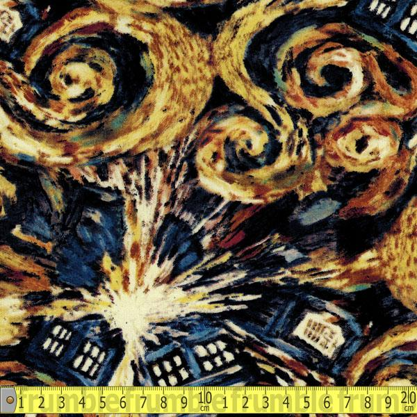 Doctor Who Exploding Tardis Fabric by Springs Creative