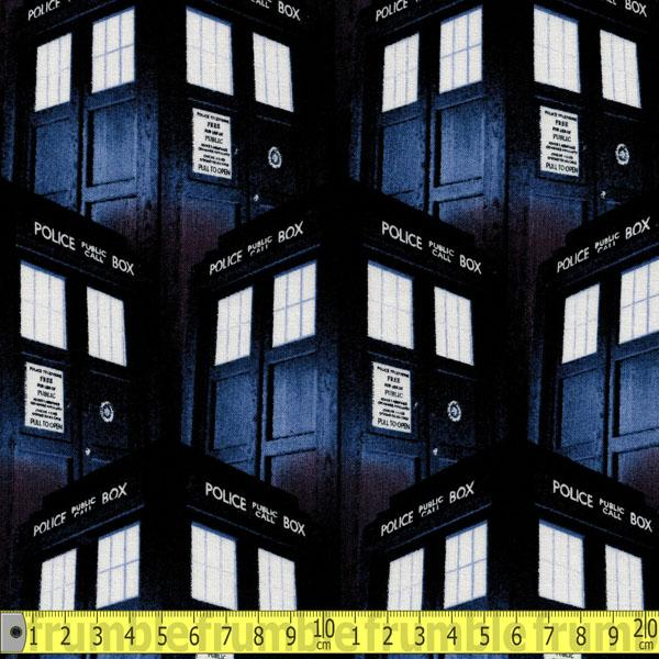 Doctor Who Packed Tardis Fabric by Springs Creative