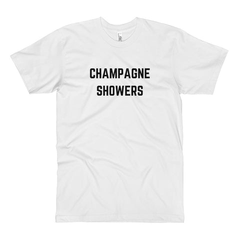 Champagne Showers Tall Tee White