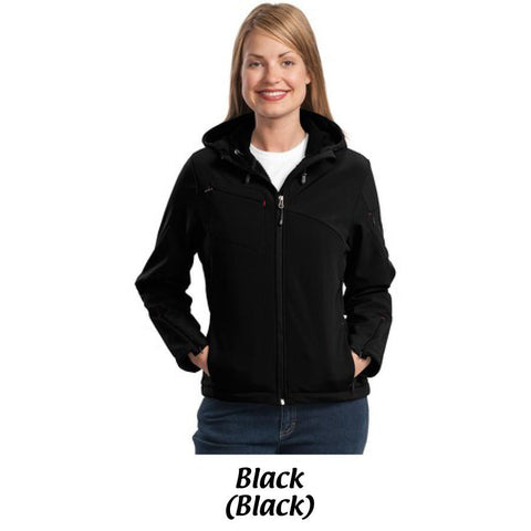 MMC Port Authority® Ladies Textured Hooded Soft Shell Jacket L706