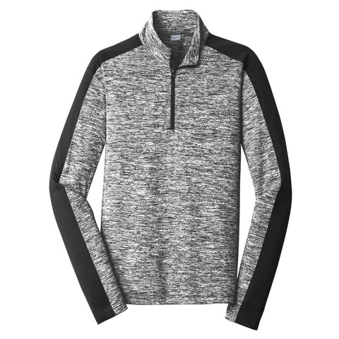 Key Choice Electric Heather Colorblock 1/4-Zip Pullover Men's