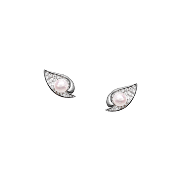 Ocean Shell Studs (Full Diamond)