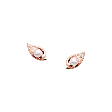 Ocean Shell Studs (Semi-Diamond)