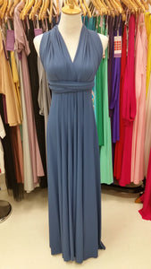 On Sale Blue Moon Wedding Bridesmaid Formal Convertible Wrap Multi-way Maxi Dress Lucy and Loo Style and Scents