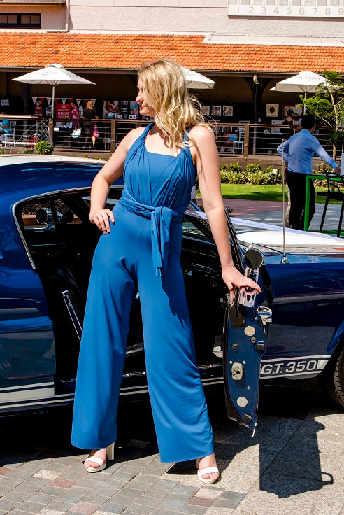 Blue Moon Convertible Wrap Multi-way Jumpsuit Pants Lucy and Loo Style and Scents