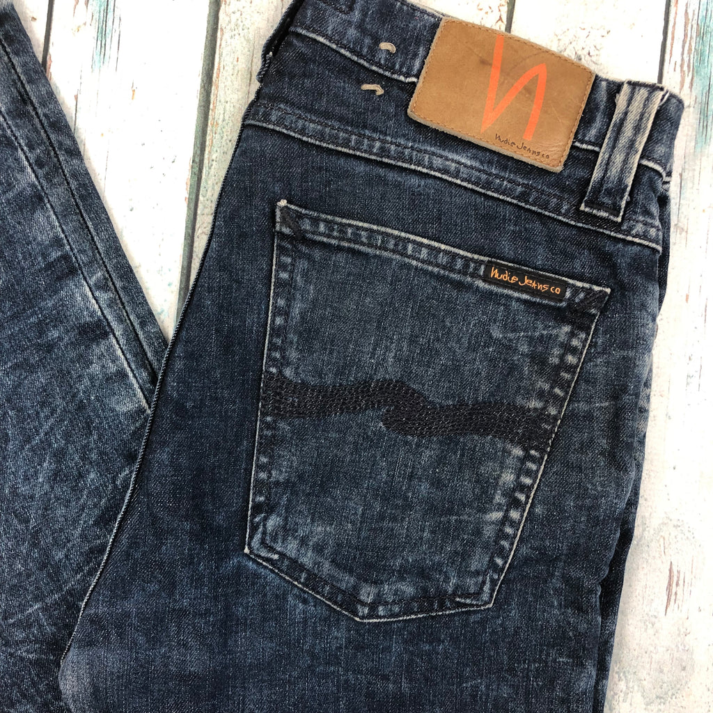 Nudie 'High Kai' Blue Tears Wash Jeans- Size 30/32